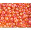 Seedbead 2/0 Transparent Yellow/Pink Lined